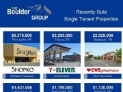 Single Tenant Properties