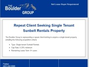 Repeat Buyer Requirement Single Tenant Sunbelt Rentals