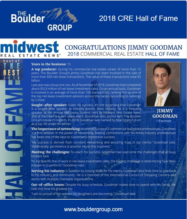 Commercial Real Estate Hall of Fame