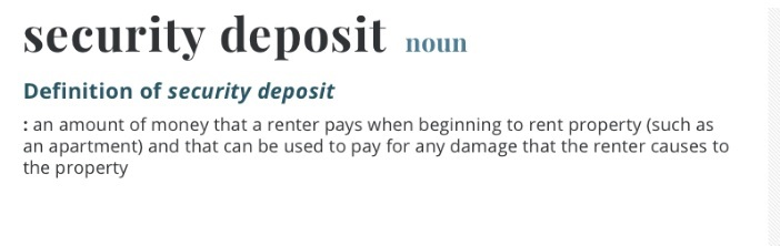 what is a security deposit