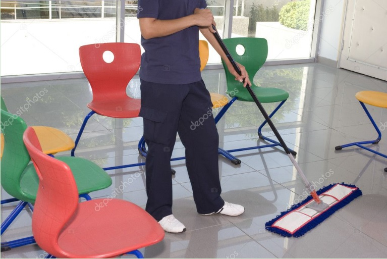 Cleaning spills ASAP